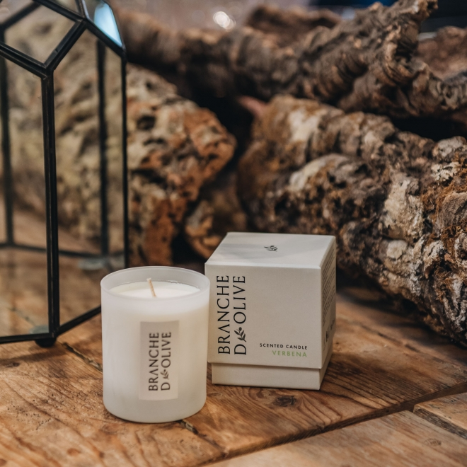 Verbena Branche d'Olive Candle with Box