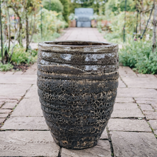 Brown Round Volcano Pots - in Small and Large