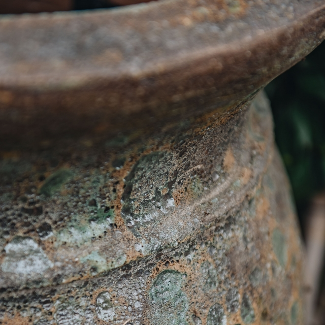 Green Round Volcano Pots (Lipped) - Large Detail