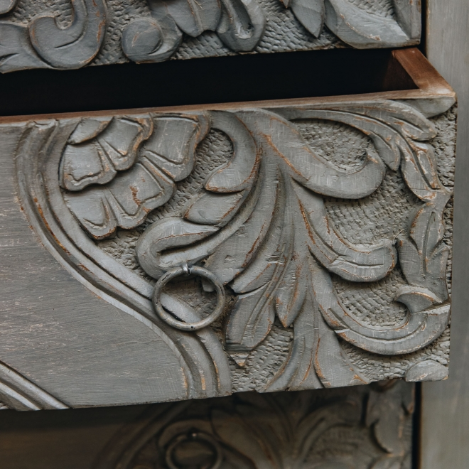 Grey Chest of Drawers  - Detail