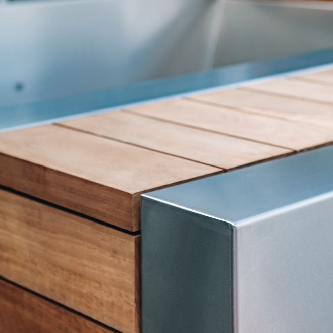 Wood Fired Hot Tub Detail