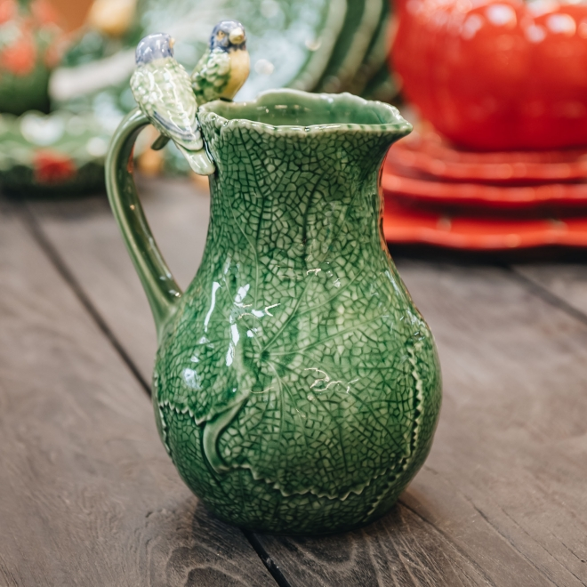 Pitcher with Birds
