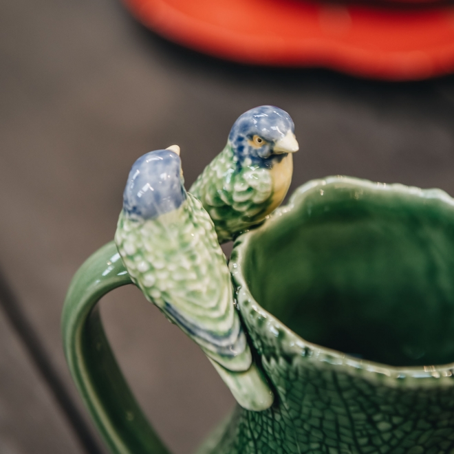 Pitcher with Birds - Detail