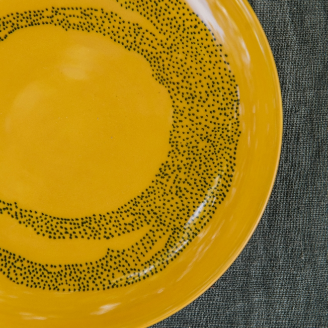 Extra Small Plates in Sunny Yellow