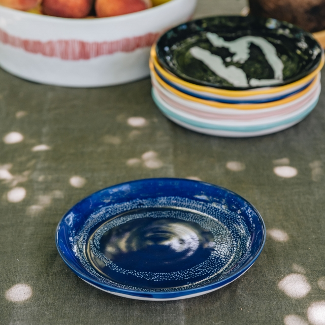 Ottolenghi Feast Small Plate in Lapis Lazuli