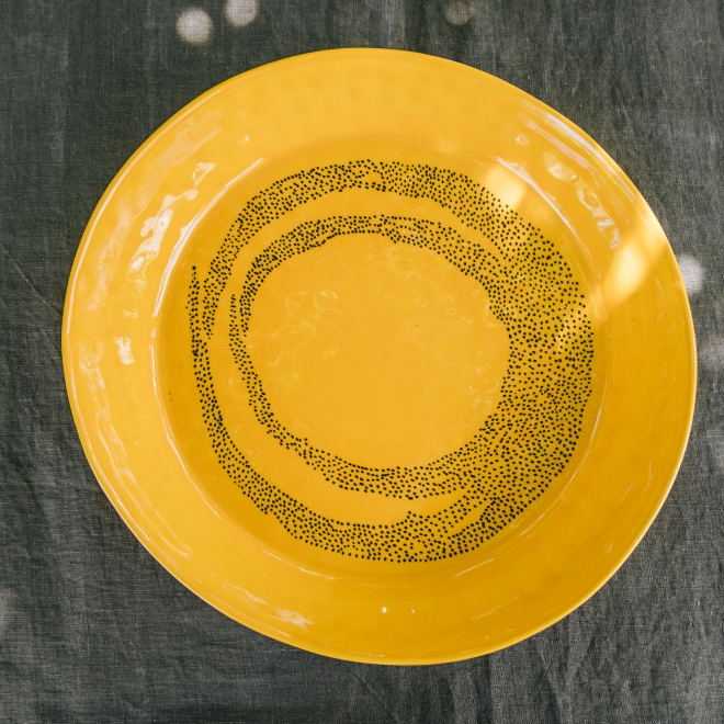Small Serving Dish in Sunny Yellow