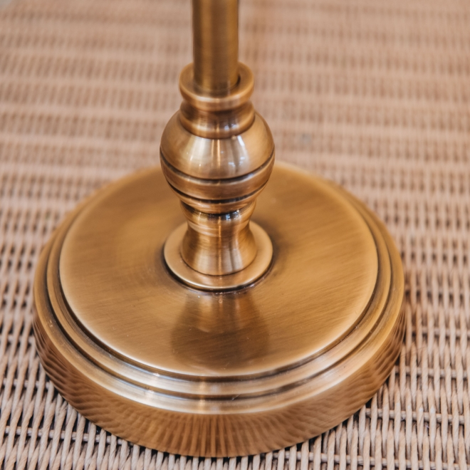 Chukka Table Lamp in Antiquated Brass - Detail