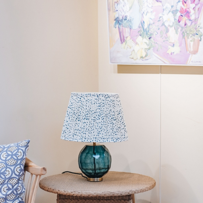 Green Glass Donna Table Lamp