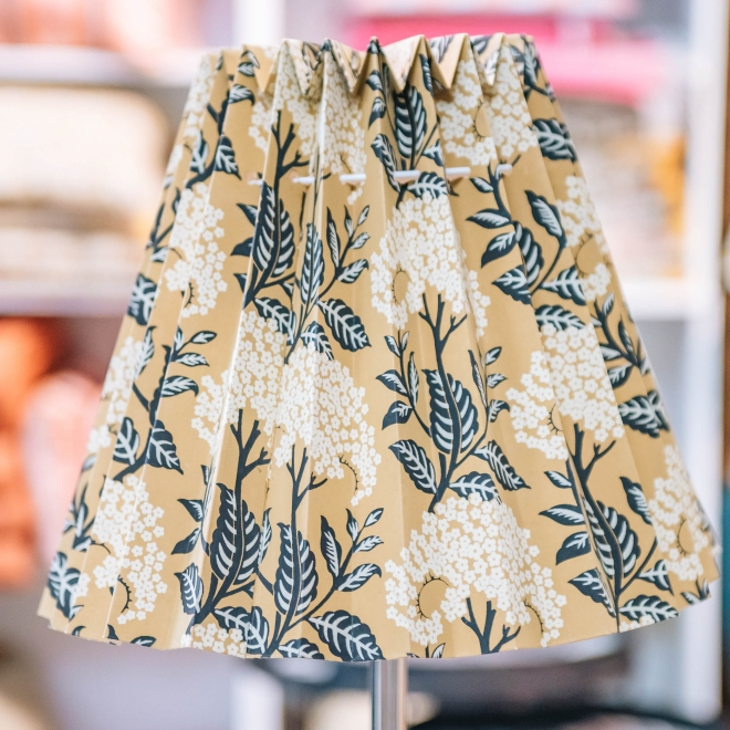 Fold Out Printed Lampshade Camel