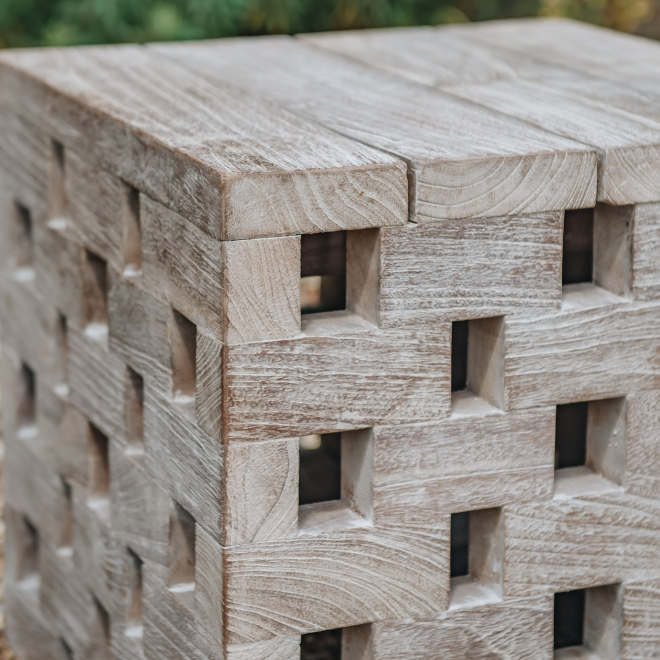 Puzzle Coffee Table in Natural Grey Detail - Small