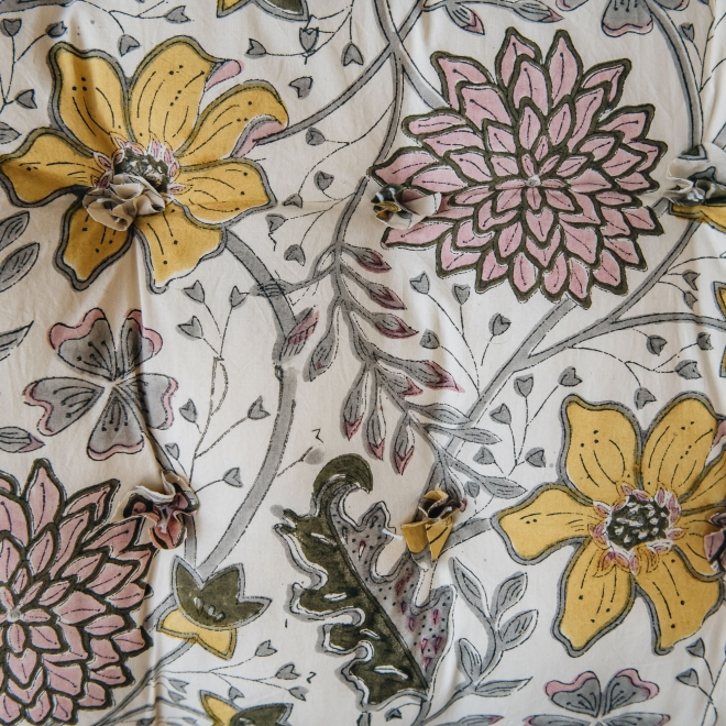 Sitapur Mattresses - in Curry Swatch Detail