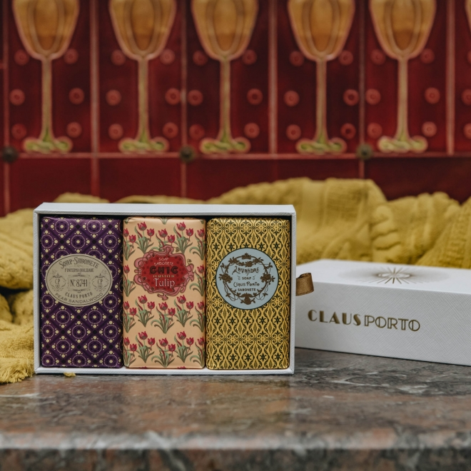 Wax Sealed Soap Gift Boxes - Floral