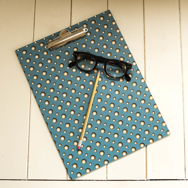 Cressida Bell for Burford - Clipboard Blue Spot