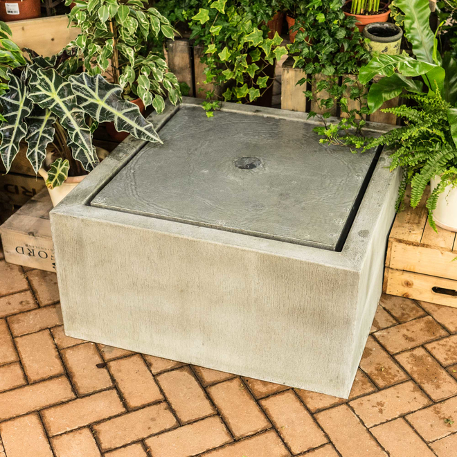 Qube Zinc Water Feature