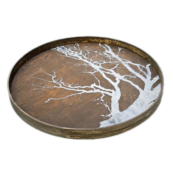 Tree Driftwood Tray Round Large